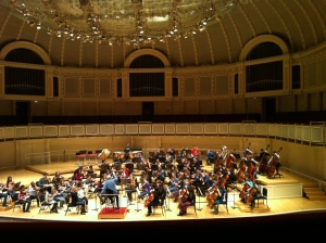 Michael at Symphony Center for Youth in Music Festival 2013
